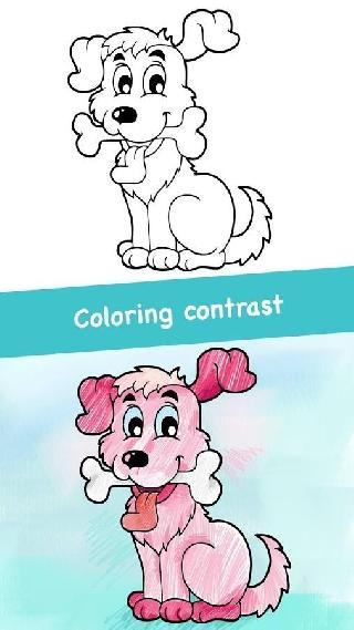 dog coloring game