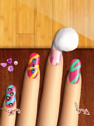 glow nails: manicure nail salon game for girls