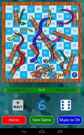 snakes and ladders game (ludo)