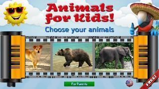 animals for kids - flashcards