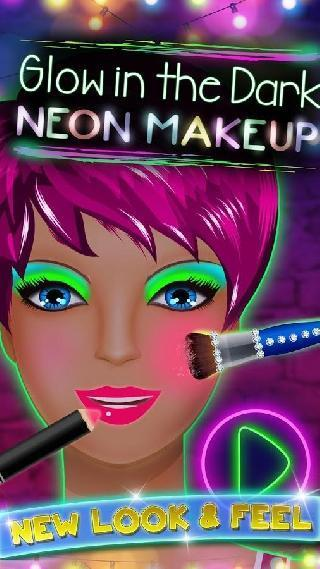 glow in the dark neon makeup