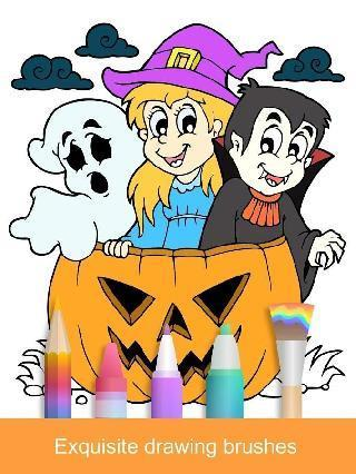 halloween coloring game