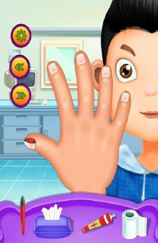 hand and nail doctor kids games