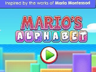 learn to read : mario alphabet