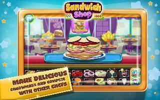 sandwich maker-food shop mania
