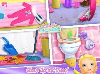 sweet baby girl doll house - play, care and bed time