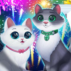 christmas bubble cats GameSkip