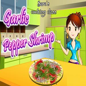 cooking garlic pepper shrimp GameSkip
