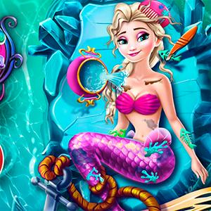 elsa mermaid spa GameSkip