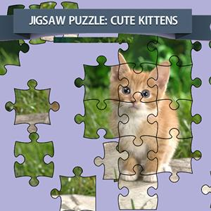 jigsaw puzzle cute kittens GameSkip