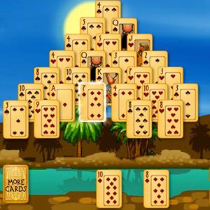 pyramid solitaire ancient egypt GameSkip
